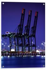 Cranes at Southampton Docks, Acrylic Print