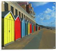 BOSCOMBE BEACH HUTS, Acrylic Print