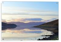 Loch a'Choire sunrise                            , Acrylic Print