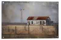 Homestead in Dust Storm, Acrylic Print