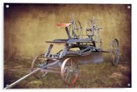 Antique Road Grader, Acrylic Print