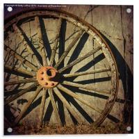 Old West Wagon Wheel, Acrylic Print