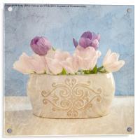 Pastel Still Life, Acrylic Print