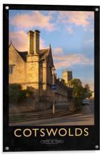 Cotswolds Railway Poster, Acrylic Print