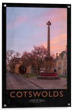 cotswolds Railway Poster, Acrylic Print