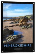 Pembrokeshire Railway Poster, Acrylic Print