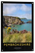 Pembrokeshire Railway Poster, Acrylic Print