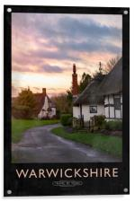 Warwickshire Railway Poster, Acrylic Print
