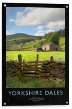 Yorkshire Dales Railway Poster, Acrylic Print
