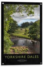 Yorkshire Dales Railway Poster, Acrylic Print
