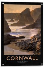 Cornwall Railway Poster, Acrylic Print