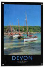Devon Railway Poster, Acrylic Print