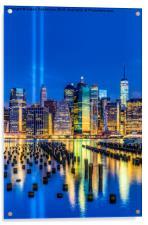 Manhattan NYC 911 Tribute, Acrylic Print