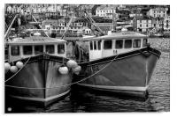 Trawlers in Black and White, Acrylic Print