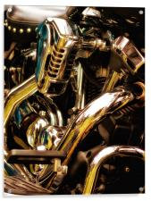 Motorcycle Engine and Chrome, Acrylic Print