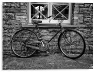 The Old Vintage Bicycle, Acrylic Print
