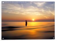 Iron Man at Sunset, Acrylic Print