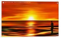 Gormley at Sunset, Acrylic Print