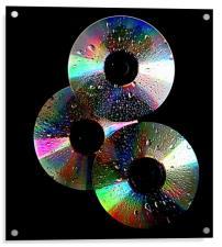 3 cd's, Acrylic Print