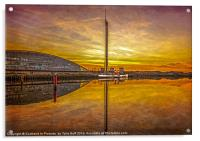 PS The Waverley at Sunset, Acrylic Print