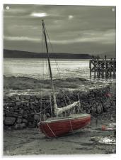 Low Tide at Portencross, Acrylic Print