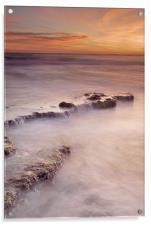 waterfalls on the rocks, Acrylic Print
