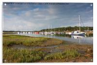 Yarmouth Reflections, Acrylic Print