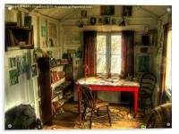 The Writing Shed, Dylan Thomas, Acrylic Print