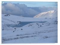Llyn Idwal in Snow, Acrylic Print
