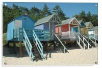 Beach Huts, Wells, Norfolk, Acrylic Print