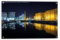 Canning Dock clear night, Acrylic Print