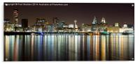 Liverpool skyline in the night, Acrylic Print