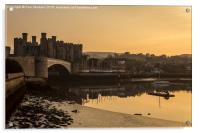Conwy Castle and harbour, Acrylic Print