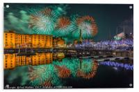 Liverpool River Of Light, Acrylic Print