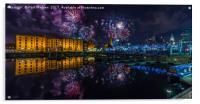 Albert Dock Fireworks, Acrylic Print