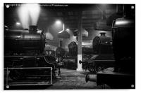 Morayshire smoking in the roundhouse., Acrylic Print