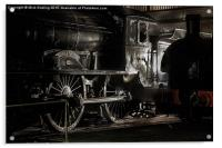 The last classD49, Morayshire, in the roundhouse , Acrylic Print