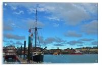 Traditional Sailing Boat In Ramsgate, Acrylic Print
