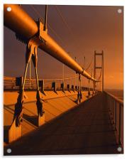 Humber Bridge Sunset, Acrylic Print