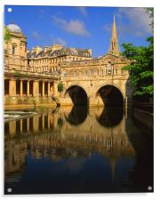 Pulteney Bridge & River Avon in Bath, Acrylic Print