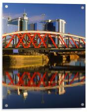 Trafford Road Bridge,Salford, Acrylic Print