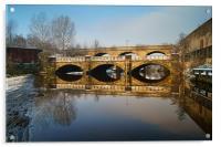 Norfolk Bridge & River Don, Sheffield, Acrylic Print