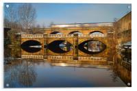 Norfolk Bridge Train & Reflections, Acrylic Print