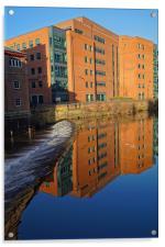 River Don From Ladys Bridge, Sheffield, Acrylic Print