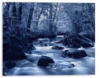 River Yealm at Yealmpton, Acrylic Print