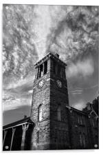 Firth Park Clock Tower, Sheffield, Acrylic Print