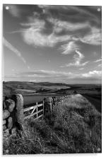 View Towards Over Owler Tor & Millstone Edge, Acrylic Print