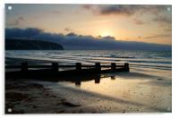 Sunrise over Swanage Bay, Dorset, Acrylic Print