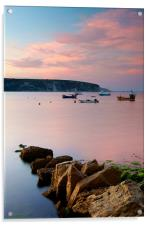 Looking across Swanage Bay, Dorset, Acrylic Print