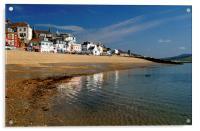 Lyme Regis Main Beach & Seafront, Acrylic Print